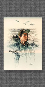Portrait of young man with a passion for waterfowl hunting
