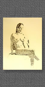 Seated nude study drawn from life