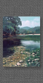 Painting of the King's River near Eureka Springs, AR