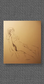 Nude Study on graphite paper